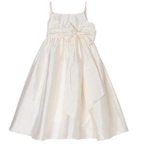 Us Angels Dresses - Us Angels Big Girls Taffeta Empire Dress With Sash